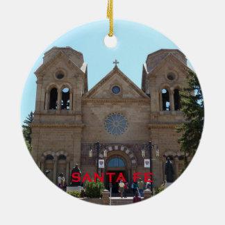 Ornement de Noël de Santa Fe Nouveau Mexique