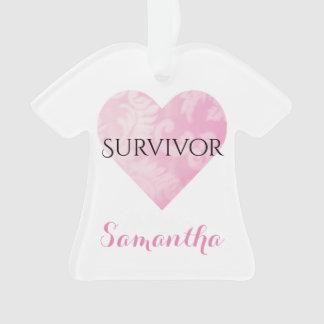 Ornement de Noël de T-shirt de survivant,