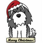 Ornement de Noël de Terrier tibétain de bande dess Découpage En Acrylique