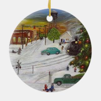 Ornement de Noël de ville natale