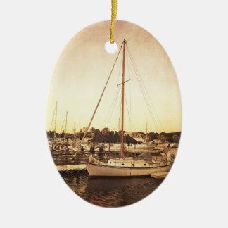 Ornement de Noël de voilier de Cape Cod