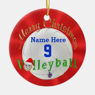 Ornement de Noël de volleyball personnalisé