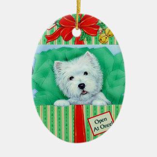 Ornement de Noël de Westie par Borgo