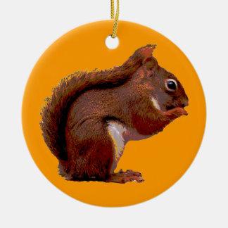 Ornement de Noël d'écureuil rouge