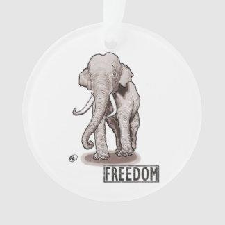 """Ornement de Noël d'éléphant de """"liberté"""""""