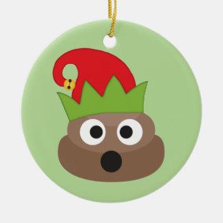 Ornement de Noël d'Emoji Elf de dunette
