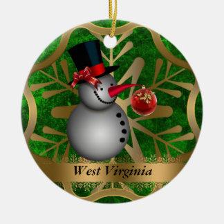Ornement de Noël d'état de la Virginie Occidentale