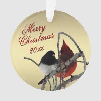 Ornement de Noël d'oiseaux de chanson