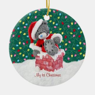 Ornement de Noël d'ours de nounours de Père Noël