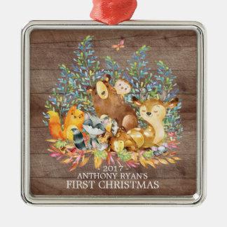 Ornement de Noël du bébé d'animaux de région