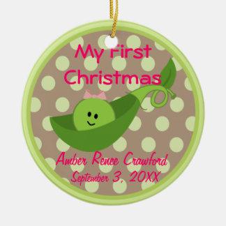 Ornement de Noël du bébé de cadre de photo ęr