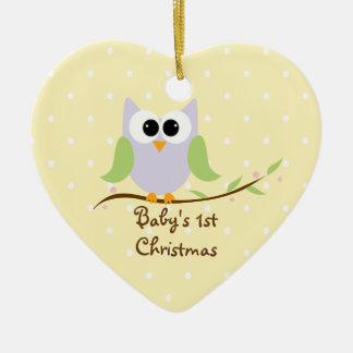 Ornement de Noël du bébé fait sur commande de