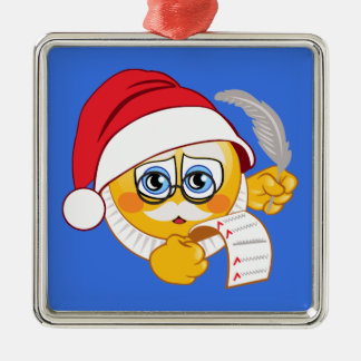 Ornement de Noël du père noël Emoji