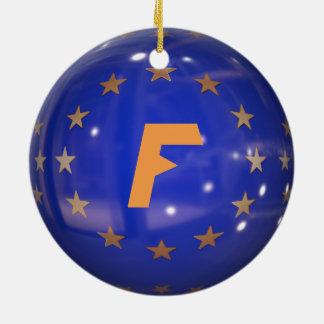 Ornement de Noël d'Union européenne de la France