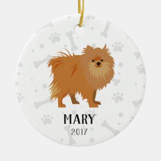 Ornement de Noël personnalisé par chien de