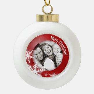 Ornement de Noël personnalisé par photo de flocons