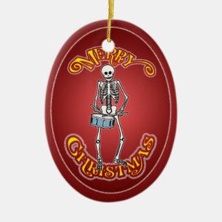 Ornement de Noël personnalisé par squelette de bat