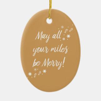 Ornement de Noël pour des coureurs ! Joyeux milles