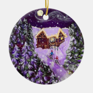 Ornement de Noël - ski de lanterne