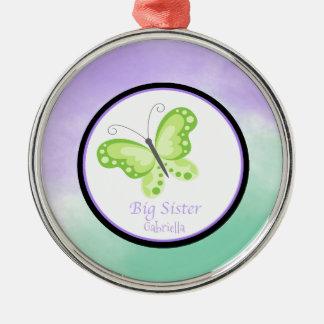 Ornement de papillon de grande soeur de vert de