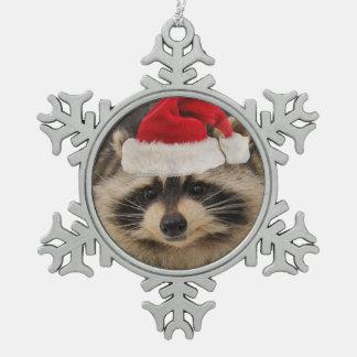 Ornement de père Noël de raton laveur