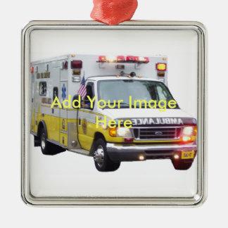 Ornement de photo d'ambulance