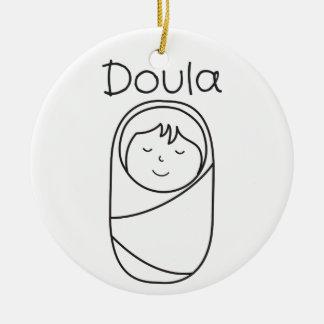 Ornement de porcelaine de Doula