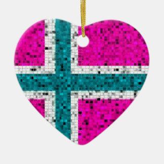 Ornement de scintillement de drapeau de la Norvège
