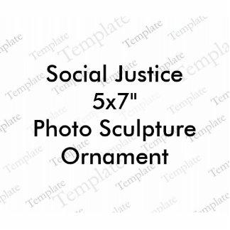 Ornement de sculpture en photo de la justice photos en relief