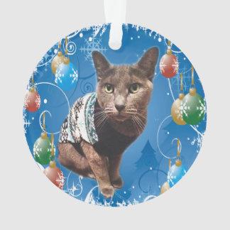 Ornement de Shadow Christmas appelé par chat