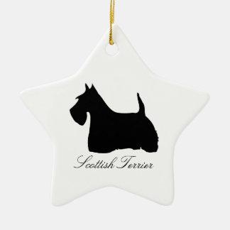 Ornement de silhouette de noir de chien de Terrier