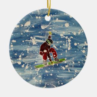 Ornement de snowboarding