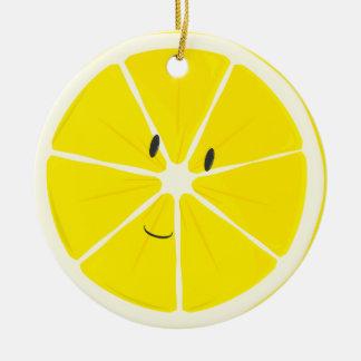 Ornement de sourire du citron  
