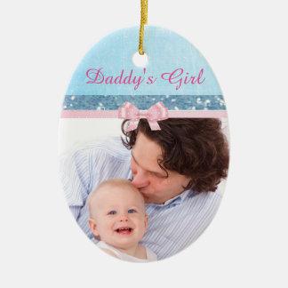 Ornement de souvenir de bébé de la fille du papa