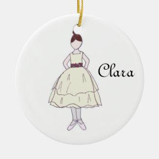Ornement de souvenir de Clara de ballet de