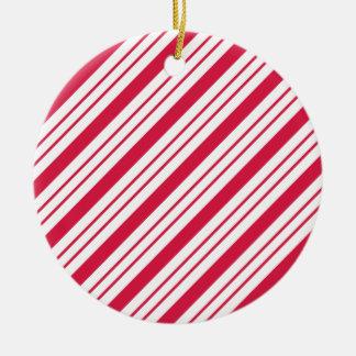 Ornement de sucrerie de Noël de menthe poivrée