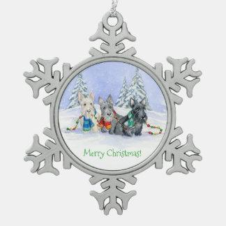 Ornement de trio de Joyeux Noël