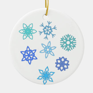 Ornement de vacances de motif de flocon de neige