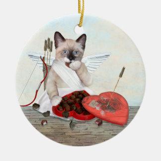 Ornement de Valentine personnalisé par chaton de
