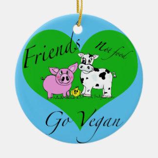 Ornement de végétalien de nourriture d'amis pas