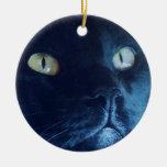 Ornement de visage de chat noir