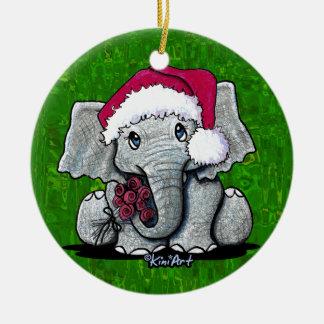 Ornement d'éléphant de Père Noël