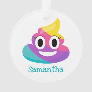 Ornement d'Emoji de dunette d'arc-en-ciel