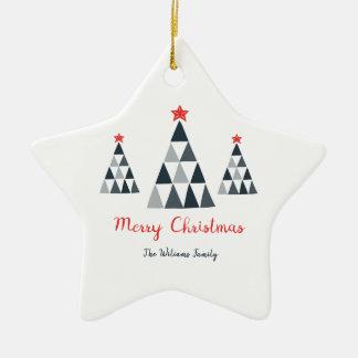 Ornement d'étoile de Joyeux Noël