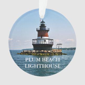 Ornement d'Île de Rhode de phare de plage de prune