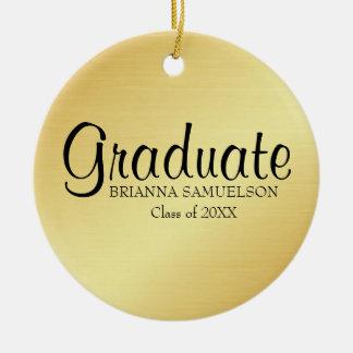 Ornement d'obtention du diplôme d'or avec le texte