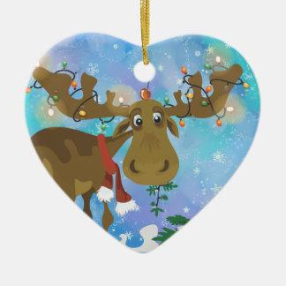 Ornement d'orignaux de Noël