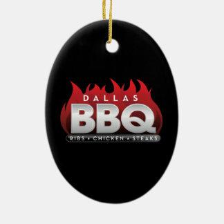 Ornement d'ovale de BBQ de Dallas