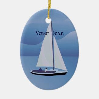 Ornement d'ovale de voilier de navigation