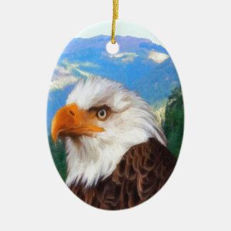 Ornement d'ovale d'Eagle chauve